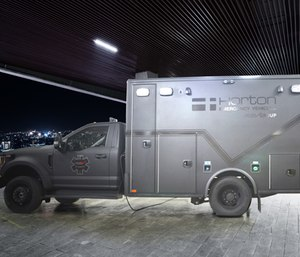 The fully-functioning REV Guardian ambulance is wrapped in Level IIIA ballistic protection. (Photo/REV)