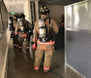 The Reno Fire Department used sensors created by tech startup SimpleSense to locate two victims in a four story building in four minutes during a primary search. (Photo/City of Reno)
