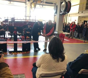 The Harwich Fire Department and Harwich Chamber of Commerce held a ribbon-cutting ceremony for the village's new fire station last weekend. Firefighters are expected to begin working from the station in about three weeks when construction is fully completed.