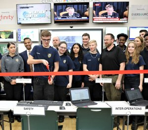 Vinal Technical High School held a ribbon-cutting ceremony Monday as it unveiled its new emergency operations center, which will give students hands-on training assisting first responder communications.
