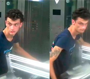 This photo released by NYPD shows a person of interest wanted for questioning in regard to the suspicious items placed inside the Fulton Street subway station in Lower Manhattan on Friday, Aug. 16, 2019 in New York. (NYPD via AP, File)
