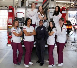 Thomas Edison State University nursing students join Trenton Firefighter Alisa McNeese in a collaborative ride-along training program. The university partnered with the Trenton Fire Department and Trenton EMS to give students insight into prehospital patient care.