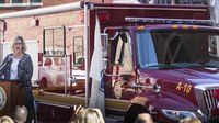 Fallen Boston firefighters honored at rehab truck unveiling