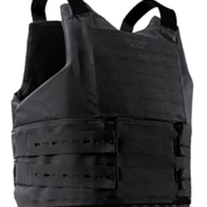 Rather than using wide Velcro straps, the Quicklock system is based on two strips of high impact polymer which slip vertically through the carrier's front MOLLE slots.