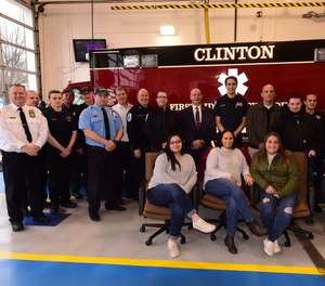 Nine days after suffering a massive heart attack while driving, a 39-year-old woman reunited with the first responders who saved her life.