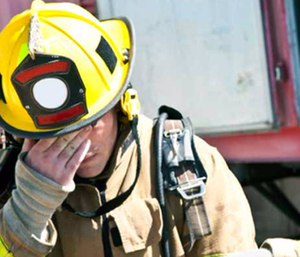 After years of service, firefighters and EMTs often suffer from both acute and chronic post-traumatic stress disorder.