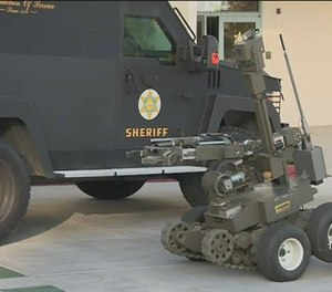 The Andros robot (Photo/LA Sheriff's Department Facebook)