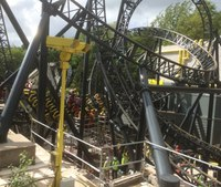 4 seriously injured after collision of roller coaster cars