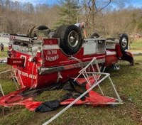 Ky. firefighter injured in tanker truck crash