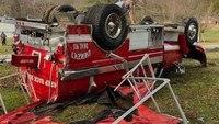 Ky. firefighter injured in tanker truck crash