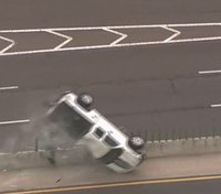 Video: Truck rolls over, keeps going during Okla. police pursuit