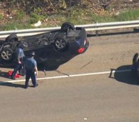 Mass. trooper, toddler, 2 others injured in rollover crash