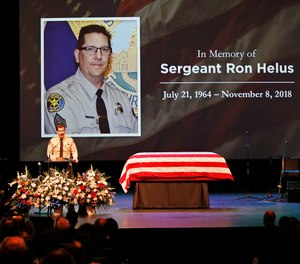 Sgt. Helus was one of twelve victims of the Borderline Bar & Grill mass shooting in Thousand Oaks last week.