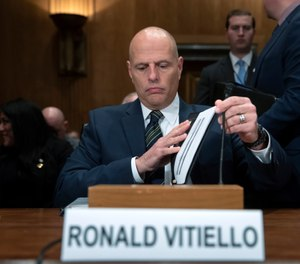 Ronald Vitiello, the nominee to become assistant secretary of Homeland Security for Immigration and Customs Enforcement, appears for his confirmation hearing before the Senate Homeland Security and Governmental Affairs Committee Committee, on Capitol Hill in Washington, Thursday, Nov. 15, 2018. (AP Photo/J. Scott Applewhite)