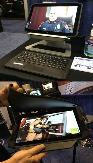 The R12 comes with a desktop docking station and an ultra-thin wireless magnetic keyboard with a kickstand for an easy transition from tablet to desktop computer.