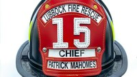 Signed Patrick Mahomes fire helmet auctioned for fallen, injured first responder families