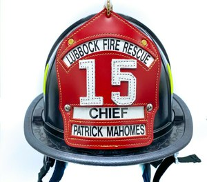 A Lubbock Fire Rescue (LFR) helmet signed by Mahomes is being auctioned off on eBay.com to benefit the families of Lubbock Police Department Officer Nicholas Reyna and LFR Lt.-Paramedic Eric Hill, who were killed in a roadway crash on Jan. 11, as well as injured Firefighter-Paramedic Matt Dawson, who was critically injured in the incident, FOX 4 KC reported.