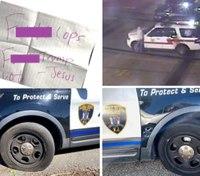 Police: NJ man slashed tires of police cars, left profane notes