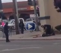 Video: Armed suspect shot to death by Calif. police