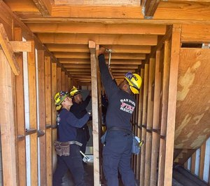 San Diego firefighters participate in a past training exercise.