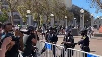 San Francisco Police: 3 cops injured in clashes between pro-Trump, anti-Trump groups