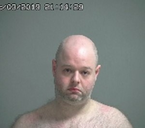 Aaron Lehmann, 33, was charged with felony grand theft, misconduct at an emergency and obstructing official business after allegedly attempting to steal an ambulance he had called for his girlfriend. (Photo/Sandusky County Sheriff's Office)