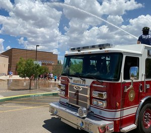 After catching a ride with Santa Fe firefighters, police say Julio Avila took their truck.