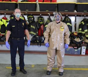 Spokane firefighters suited up for duty.