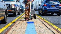 N.Y. artist told to remove blue line painting or face 'legal action'