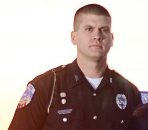 Officer Scotty Hamilton was killed in March.