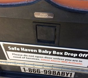 First responders should be aware of the laws in their state, and work with their organization to determine the best way to verify if a person attempting to surrender a newborn is within the law to do so. (Photo/Courtesy of SafeHavenBabyBoxes.com)