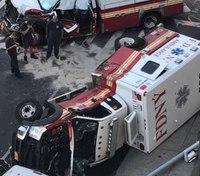 Video: 4 paramedics injured in FDNY ambulance crash