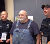 LEOs honored for helping couple that had been eating dog food
