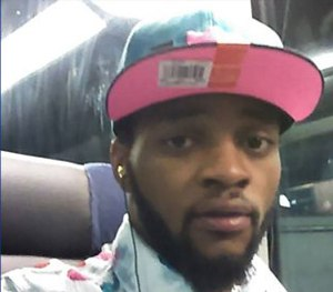 Donald Harrison posted a selfie on Facebook while sitting on a Greyhound bus out of town.