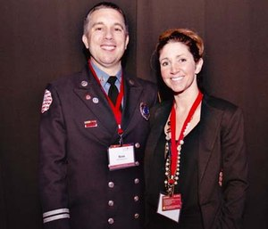 Sepsis Hero Winner Captain Rom Duckworth and his wife, Betsy Duckworth, at the 2015 Sepsis Hero Awards Gala in New York City.