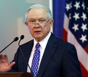Pictured is U.S. Attorney General Jeff Sessions.