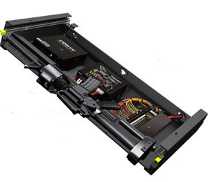The system can be installed with three different height adjustments and three horizontal locking positions without any drilling into the vehicle.