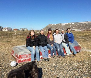 Sharon King, second from right, with fellow travelers in Alaska. (Photos courtesy of Sharon King)