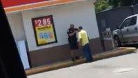 Video: Officer helps homeless man shave beard for job