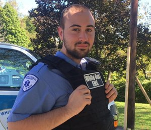 Shawn Betts was on a call helping a woman who had fallen when he experienced a life-threatening rapid heart rate. (Photo/GoFundMe)
