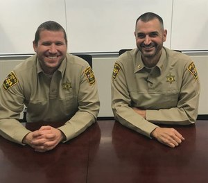 Lt. Jarrod Slindee, left, and Capt. Mark Pfetzer of the San Juan County Sheriff's Office are preparing for the race of a lifetime, competitive rowing across the Atlantic Ocean, to bring attention to the number of first responders lost to suicide. (Photo/SJSO)