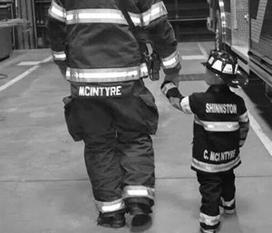 Creating a legacy of service that extends through multiple generations of firefighters allows parents to pass their knowledge, dedication, and passion for the fire service to their children. (Photo/AMU)