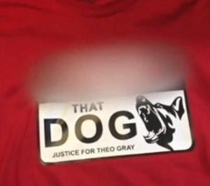 A Detroit man is selling T-shirts supporting a man who killed a police K-9.