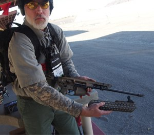 PoliceOne Editor in Chief Doug Wyllie tests the P320, the MPX, and the MCX at Range Day with SIG SAUER.