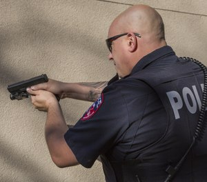A firearm typically creates 134 decibels.