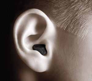 The plugs come with multiple tips to fit different-size ear canals.