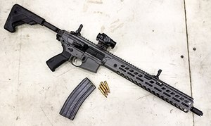 Taking the modularity concept to the rifle world, SIG Sauer offers the MCX Virtus Patrol.