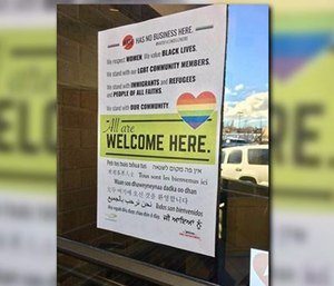 """Chief Brian Schaeffer was heavily criticized for posting a sign stating """"All are welcome here"""" on the front door of every fire station in the city. (Photo/KREM)"""