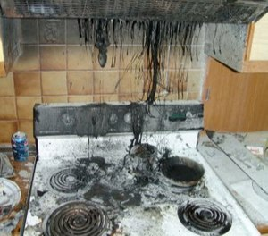 The most common type of fire in the U.S. is the kitchen fire. (Photo/U.S. Army)