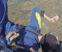 Video: Skydiver suffering seizure rescued mid-air